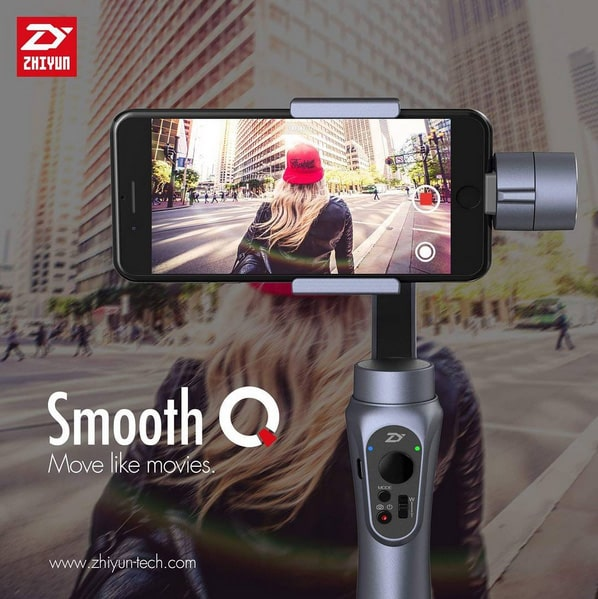 test du zhiyun smooth q stabilisateur 3 axes smartphone gopro. Black Bedroom Furniture Sets. Home Design Ideas
